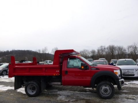 Vermillion Red 2014 Ford F550 Super Duty XL Regular Cab 4x4 Dump Truck