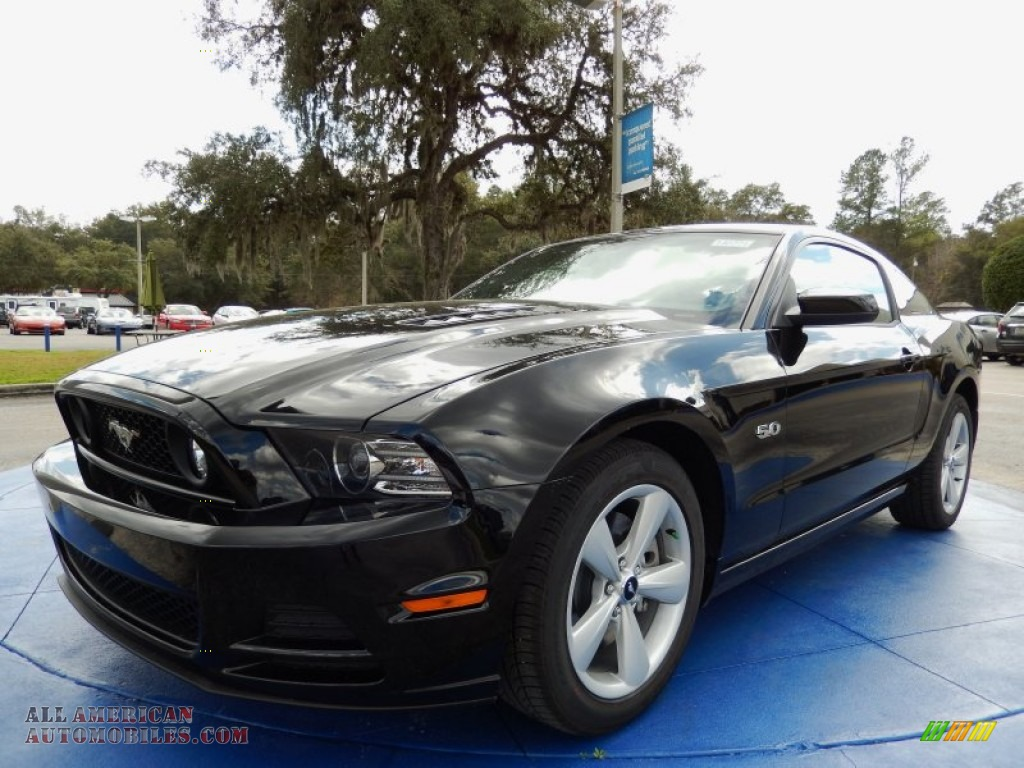 2014 ford mustang gt premium coupe in black 283183 all american automobiles buy american. Black Bedroom Furniture Sets. Home Design Ideas