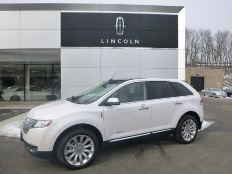 White Platinum Metallic Tri-Coat 2012 Lincoln MKX AWD Limited Edition