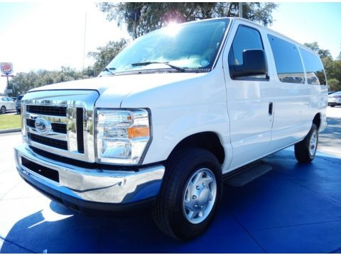 Oxford White 2013 Ford E Series Van E350 XLT Passenger