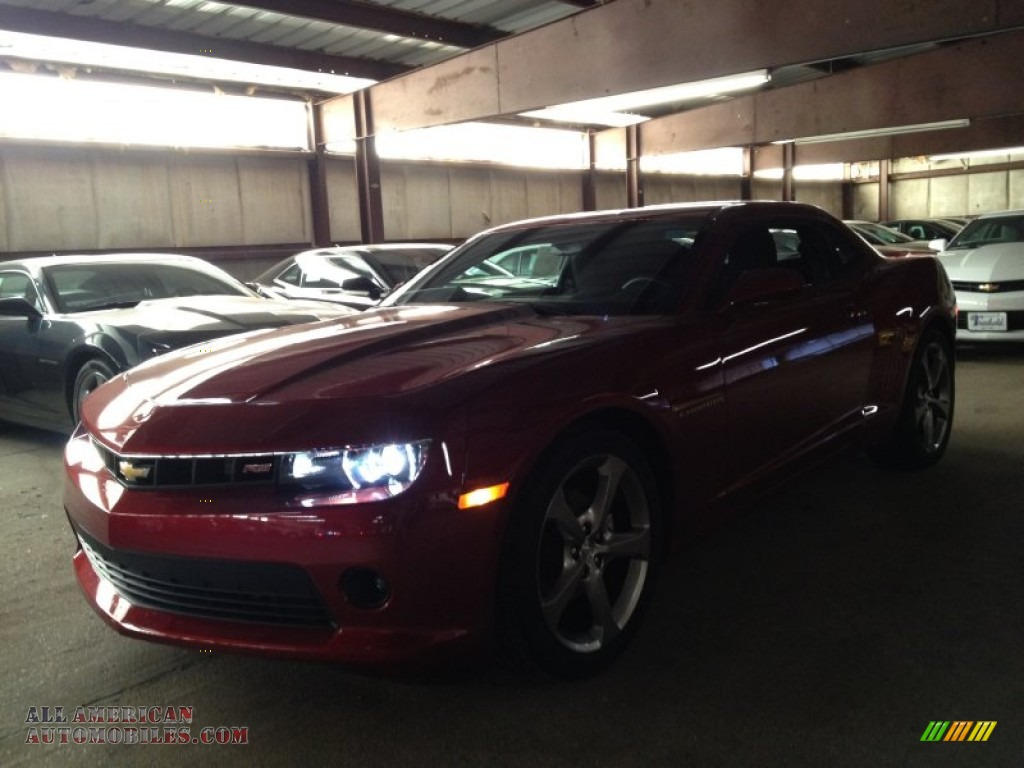 2014 chevrolet camaro lt rs coupe in crystal red tintcoat 242679 all american automobiles. Black Bedroom Furniture Sets. Home Design Ideas
