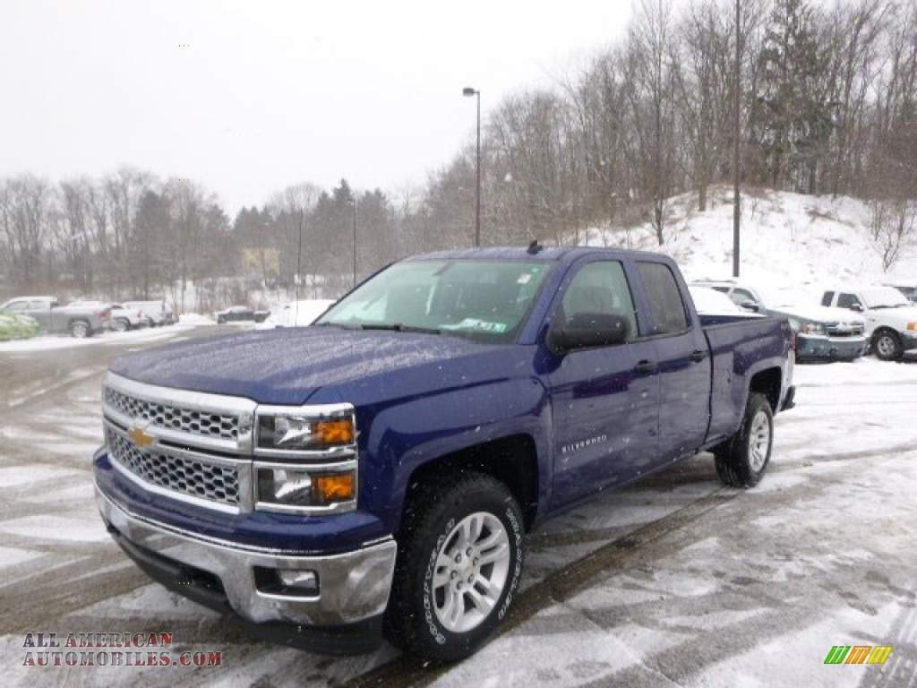 2014 chevrolet silverado 1500 lt double cab 4x4 in blue topaz metallic 257178 all american. Black Bedroom Furniture Sets. Home Design Ideas