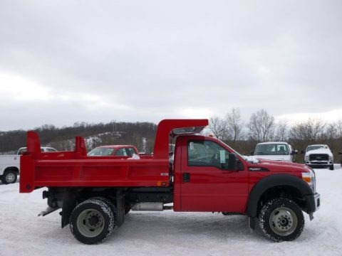 Vermillion Red 2014 Ford F450 Super Duty XL Regular Cab 4x4 Dump Truck
