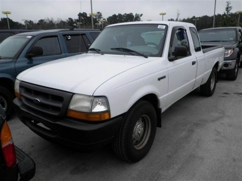 Oxford White 2000 Ford Ranger XL SuperCab