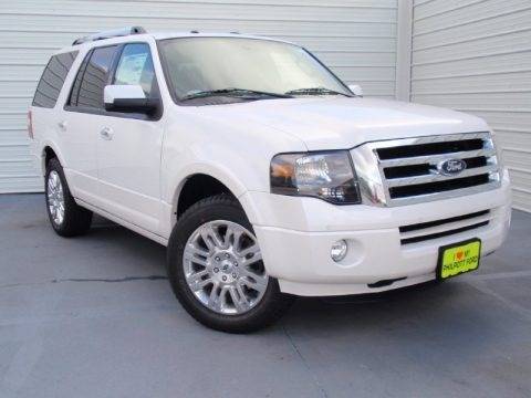 White Platinum 2014 Ford Expedition Limited