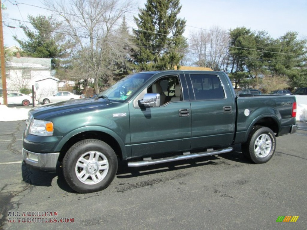2004 ford f150 lariat supercrew 4x4 in aspen green metallic c53038 all american automobiles. Black Bedroom Furniture Sets. Home Design Ideas
