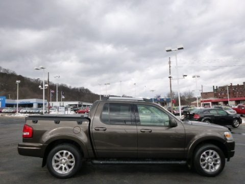 Stone Green Metallic 2008 Ford Explorer Sport Trac Limited 4x4
