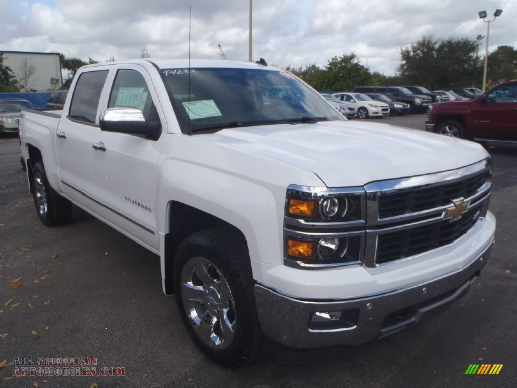 2014 chevrolet silverado 1500 ltz z71 crew cab 4x4 in summit white 343477 all american. Black Bedroom Furniture Sets. Home Design Ideas