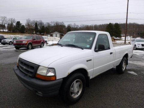 Oxford White 2000 Ford Ranger XL Regular Cab
