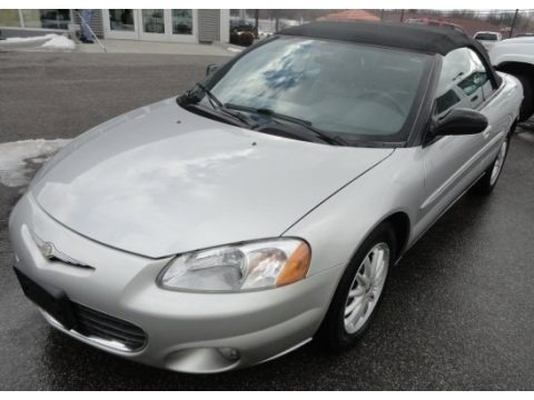 Brilliant Silver Metallic 2002 Chrysler Sebring LXi Convertible