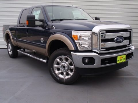 Blue Jeans Metallic 2014 Ford F350 Super Duty Lariat Crew Cab 4x4