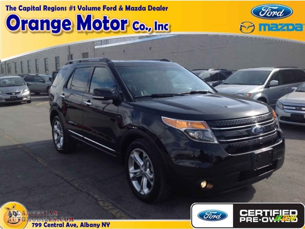 2013 ford explorer limited 4wd in tuxedo black metallic for Orange motors albany new york