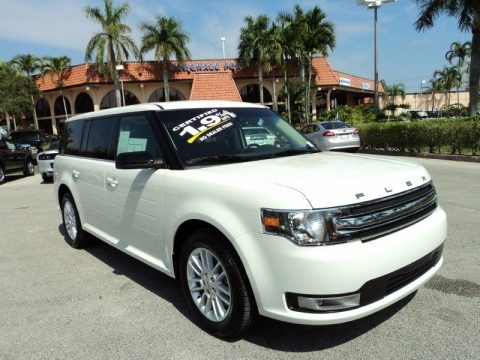 White Suede 2013 Ford Flex SEL