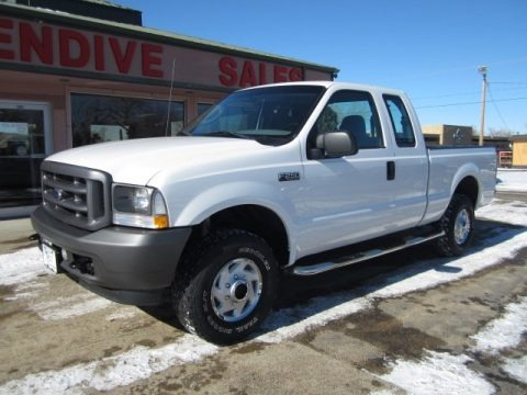 Oxford White 2004 Ford F250 Super Duty XL SuperCab 4x4