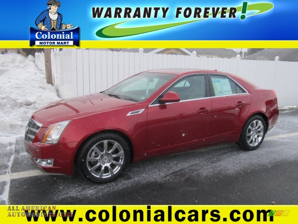 2009 cadillac cts 4 awd sedan in crystal red 162055 for Colonial motors indiana pa