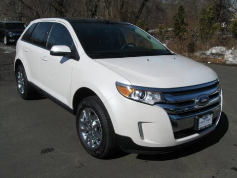 Oxford White 2014 Ford Edge SEL AWD