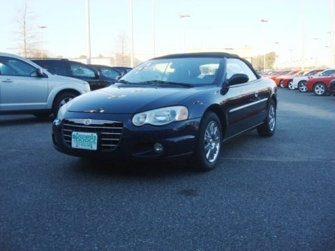 Brilliant Black Crystal 2004 Chrysler Sebring Limited Convertible