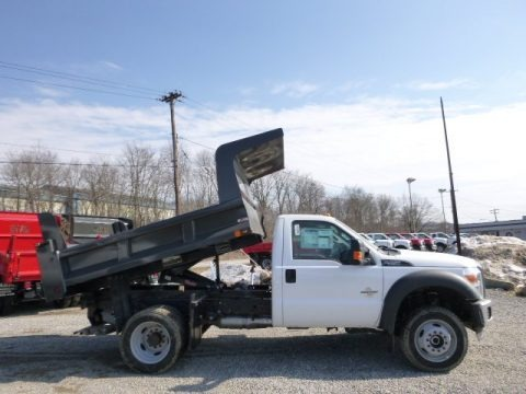 Oxford White 2014 Ford F550 Super Duty XL Regular Cab 4x4 Dump Truck
