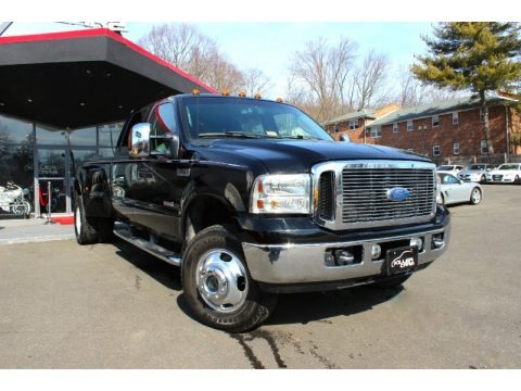 Black 2007 Ford F350 Super Duty Lariat Crew Cab 4x4 Dually