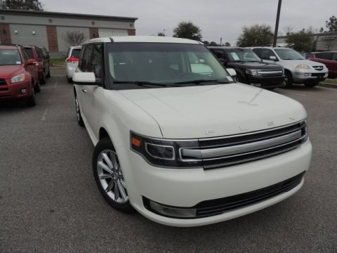 White Suede 2014 Ford Flex Limited