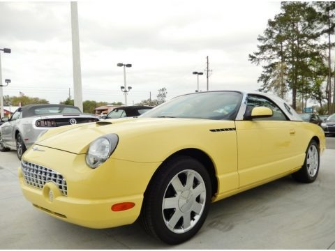 Inspiration Yellow 2002 Ford Thunderbird Premium Roadster