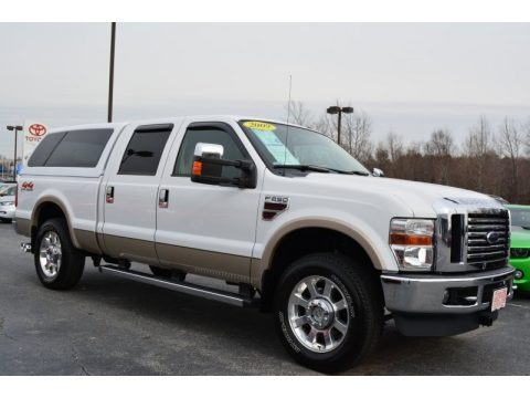 Oxford White 2009 Ford F250 Super Duty Lariat Crew Cab 4x4