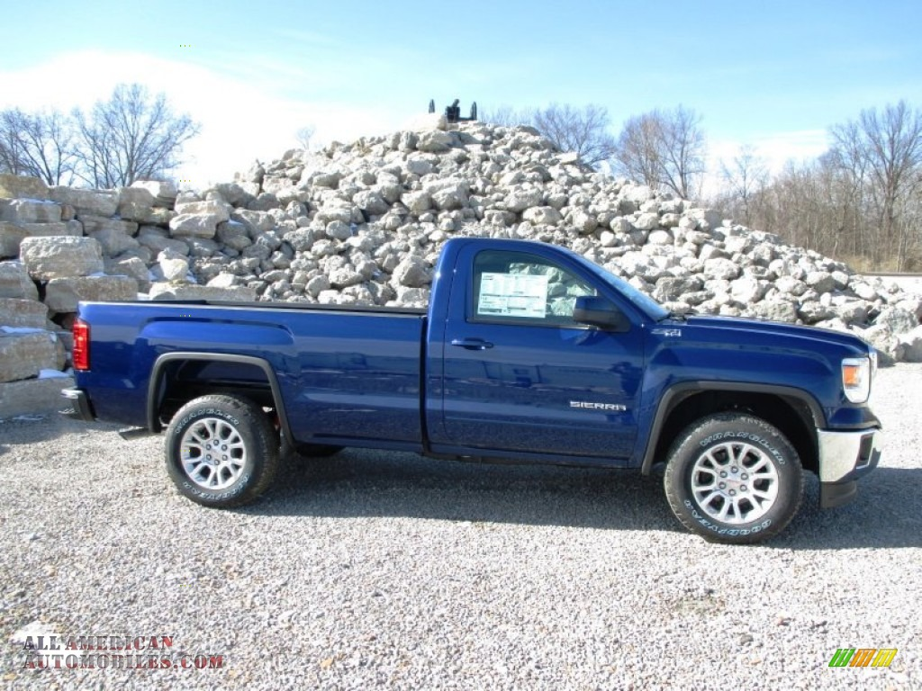 2014 gmc sierra 1500 sle regular cab 4x4 in cobalt blue metallic 269197 all american. Black Bedroom Furniture Sets. Home Design Ideas