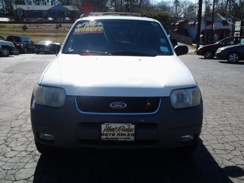 Oxford White 2001 Ford Escape XLT V6 4WD