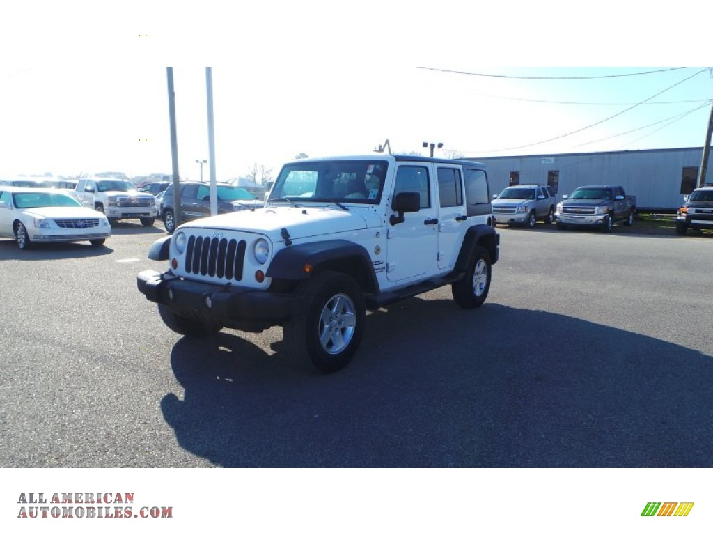 2012 jeep wrangler unlimited sport 4x4 in bright white