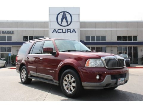 Merlot Red Metallic 2004 Lincoln Navigator Luxury