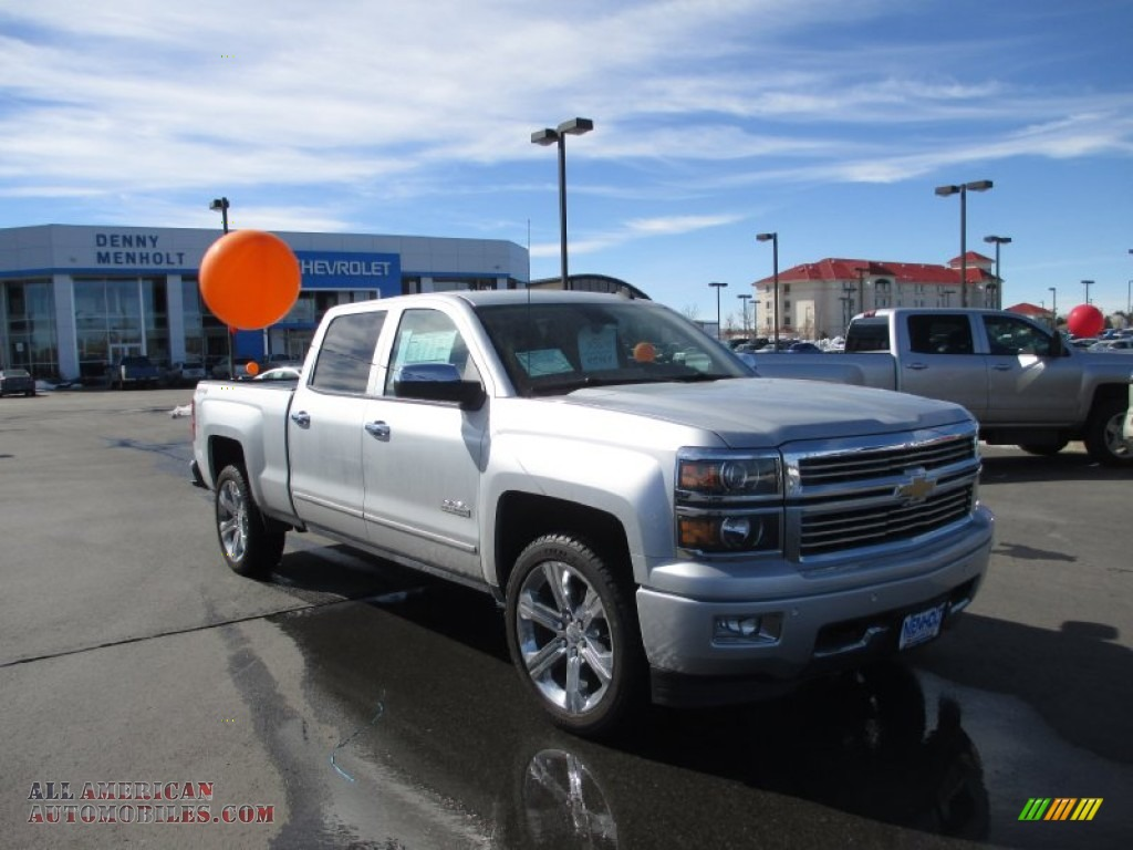 2014 chevrolet silverado 1500 high country crew cab 4x4 in silver ice metallic 275021 all. Black Bedroom Furniture Sets. Home Design Ideas