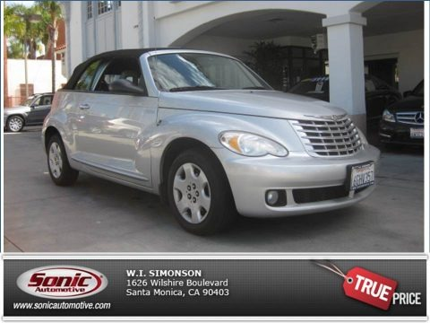 Bright Silver Metallic 2006 Chrysler PT Cruiser Touring Convertible