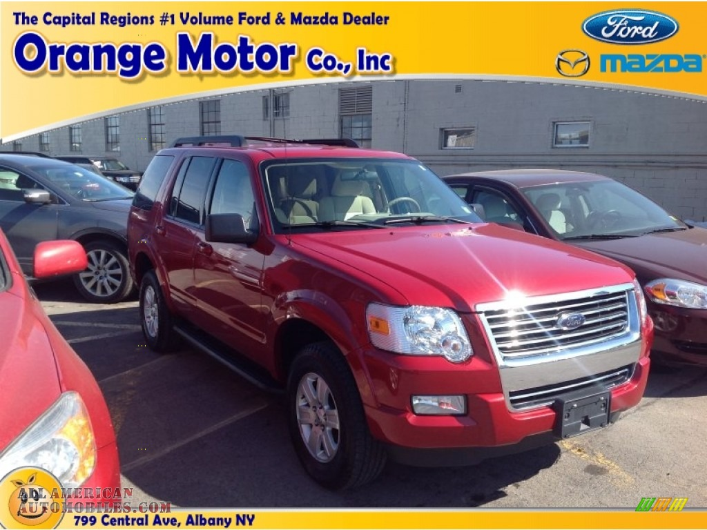 2010 ford explorer xlt 4x4 in sangria red metallic for Orange motors albany new york