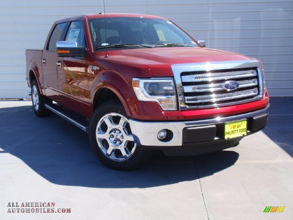 2014 ford f150 lariat supercrew in ruby red d59119 all american automobiles buy american. Black Bedroom Furniture Sets. Home Design Ideas