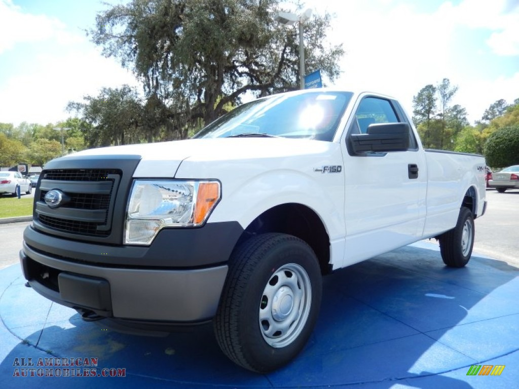 2014 ford f150 xl regular cab 4x4 in oxford white photo 4 d76115 all american automobiles. Black Bedroom Furniture Sets. Home Design Ideas