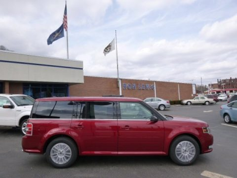 Ruby Red 2014 Ford Flex SEL AWD