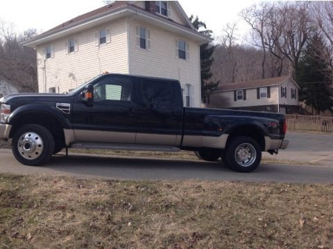 Black 2008 Ford F450 Super Duty King Ranch Crew Cab 4x4 Dually