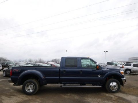Blue Jeans Metallic 2014 Ford F350 Super Duty XLT Crew Cab 4x4 Dually
