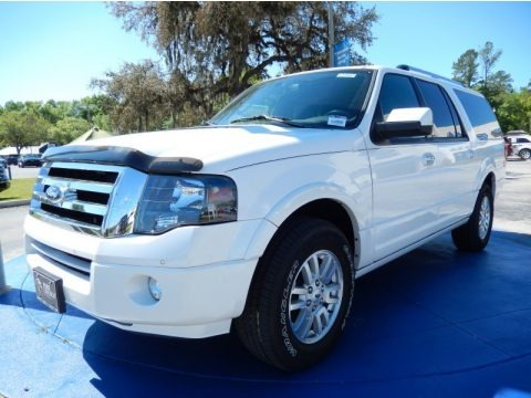 White Platinum Tri-Coat 2013 Ford Expedition EL Limited