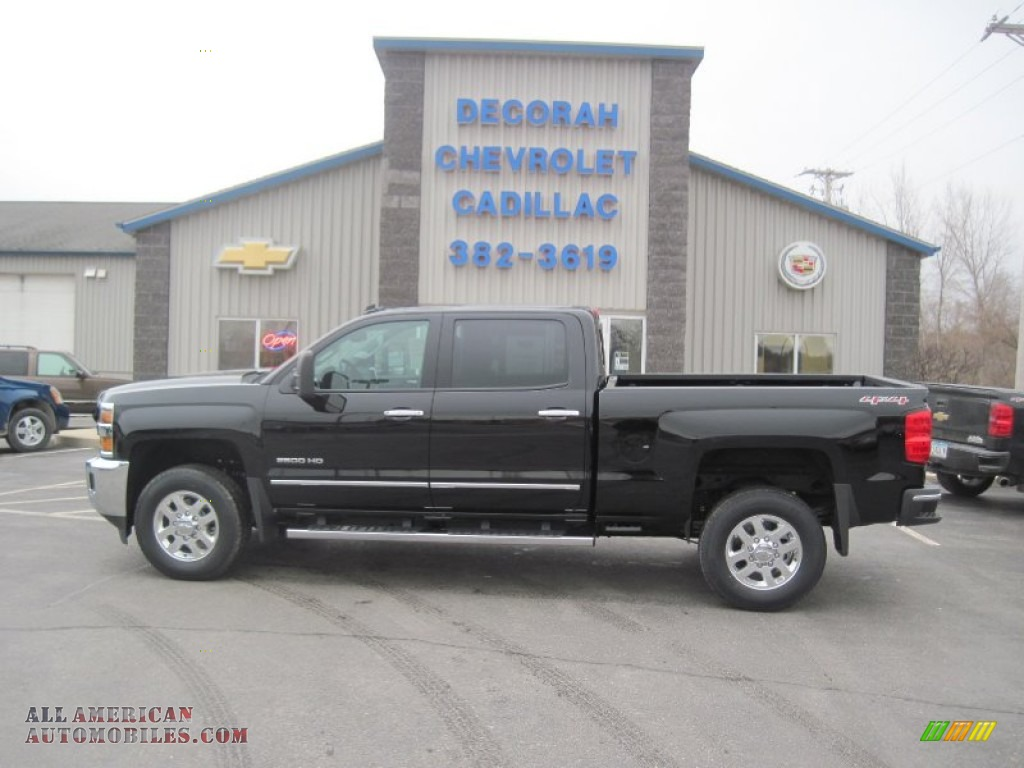 2015 chevrolet silverado 2500hd ltz crew cab 4x4 in black 116963 all american automobiles. Black Bedroom Furniture Sets. Home Design Ideas