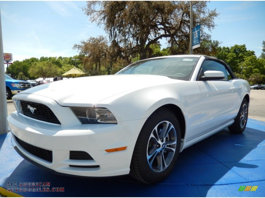 2014 ford mustang v6 premium convertible in oxford white 305774 all american automobiles. Black Bedroom Furniture Sets. Home Design Ideas