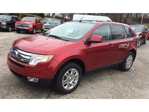 Redfire Metallic 2007 Ford Edge SEL Plus AWD