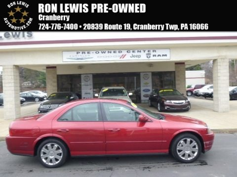 Autumn Red Metallic 2003 Lincoln LS V8