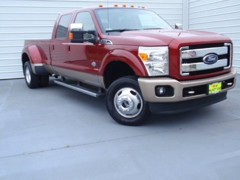 Ruby Red Metallic 2014 Ford F350 Super Duty King Ranch Crew Cab 4x4 Dually
