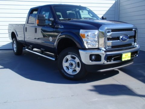 Blue Jeans Metallic 2014 Ford F350 Super Duty XLT Crew Cab 4x4