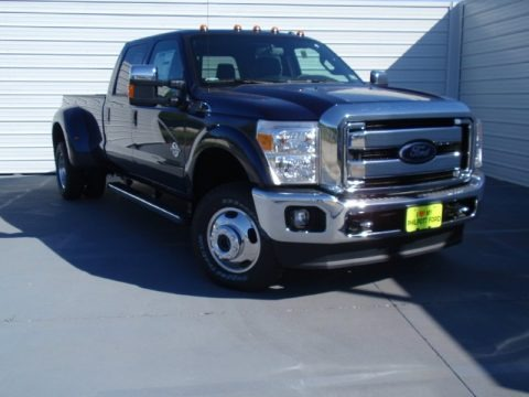 Blue Jeans Metallic 2014 Ford F350 Super Duty Lariat Crew Cab 4x4 Dually