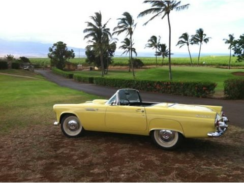 Goldenrod Yellow 1955 Ford Thunderbird Convertible