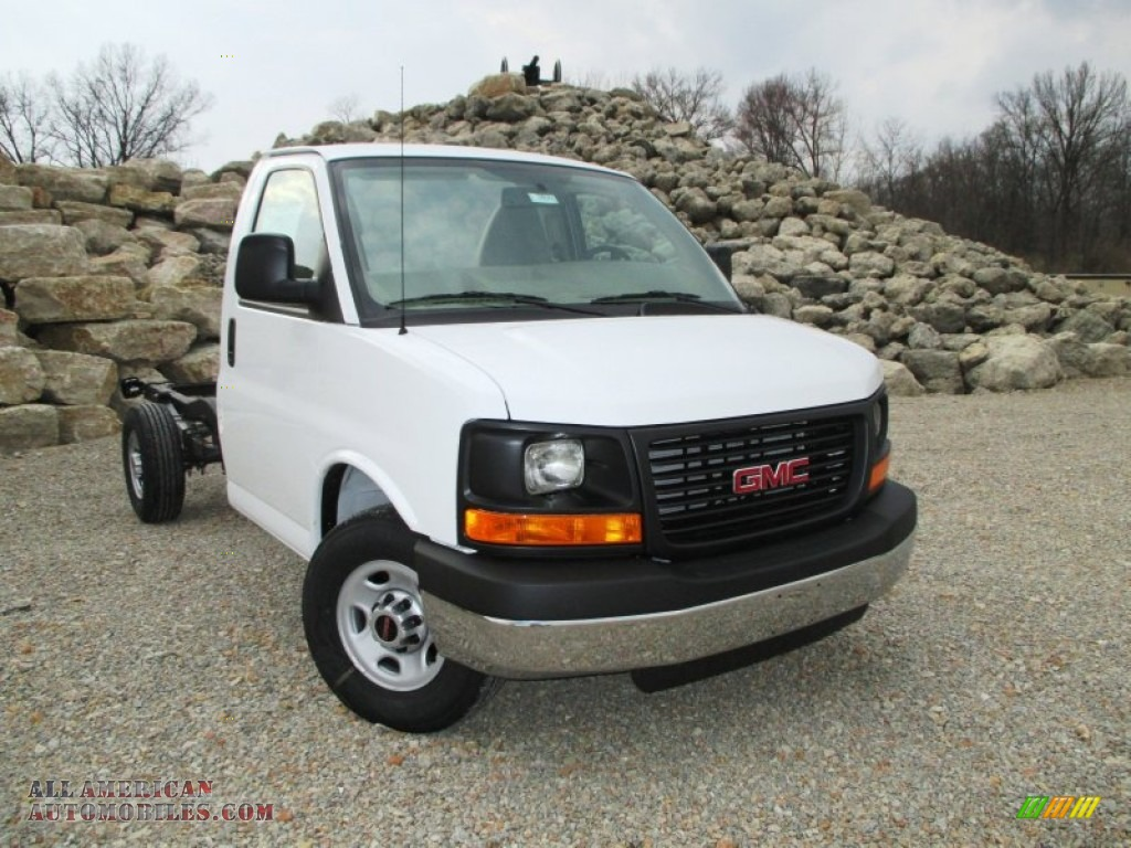 2014 gmc savana cutaway 3500 chassis in summit white photo 4 176361 all american. Black Bedroom Furniture Sets. Home Design Ideas