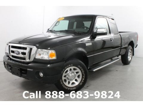 Black 2011 Ford Ranger XLT SuperCab 4x4