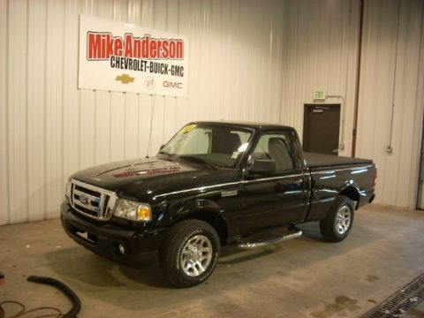 Black 2011 Ford Ranger XLT Regular Cab